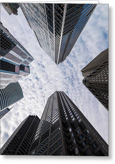 Madison And Wacker Chicago Il Greeting Card by Steve Gadomski