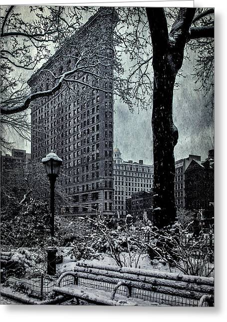Madison Square And The Flatiron Building Greeting Card by Chris Lord
