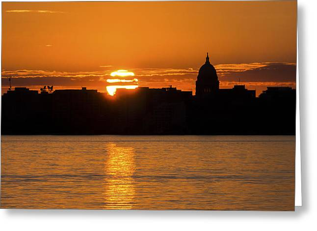 Madison Sunset Greeting Card by Steven Ralser