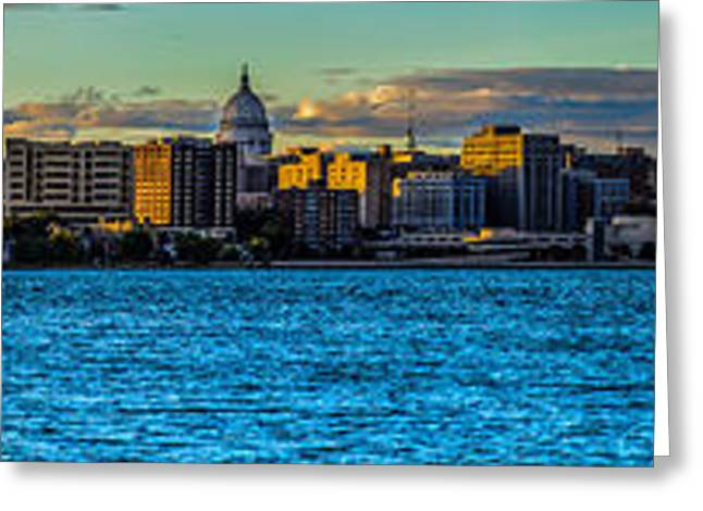Madison Twilight Panorama Greeting Card