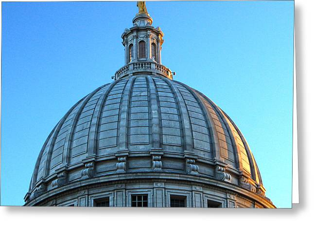 Madison Wisconsin Capitol Building - 03 Greeting Card by Gregory Dyer