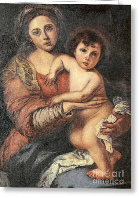 Madona And Child Greeting Card