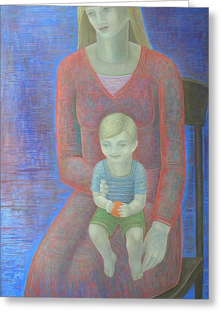 Madonna And Child, 2014, Oil On Canvas Greeting Card