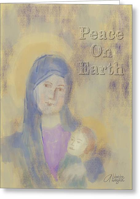 Madonna And Child Greeting Card by Arline Wagner