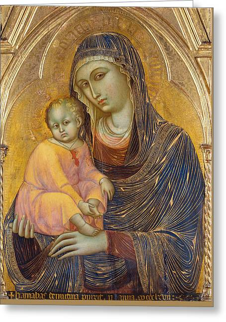 Madonna And Child Greeting Card by Barnaba da Modena