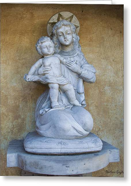 Madonna And Child Carmel Mission Monterey California Greeting Card