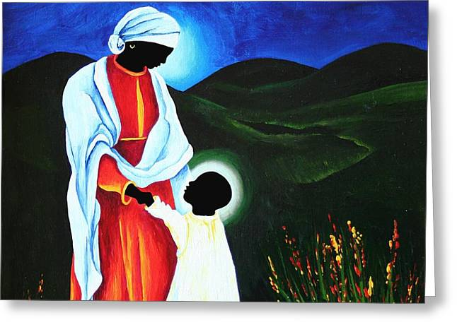 Madonna And Child  First Steps Greeting Card