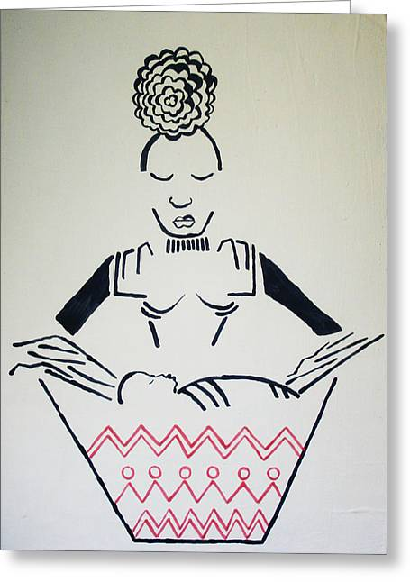 Madonna And Child Greeting Card by Gloria Ssali