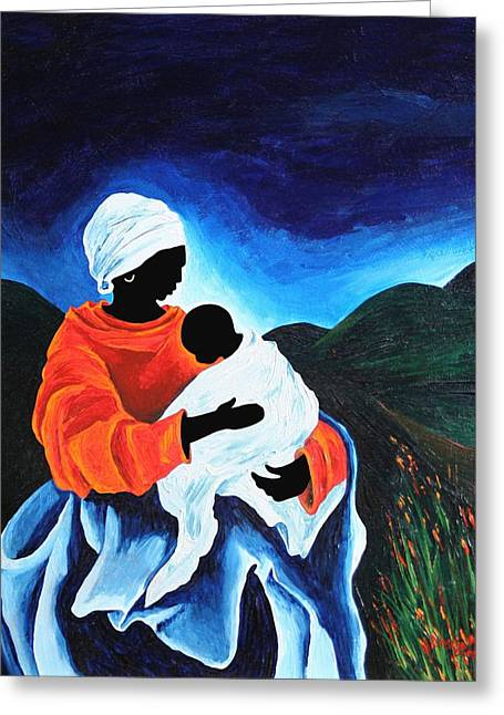 Madonna And Child  Lullaby Greeting Card by Patricia Brintle