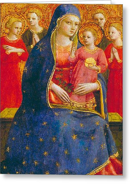 Madonna And Child With Angels Greeting Card by Fra Angelico