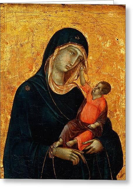 Madonna Col Bambino Sumela Monastery In Turkey Greeting Card