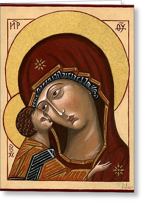 Madonna Della Tenerezza - Our Lady Of Tenderness Greeting Card