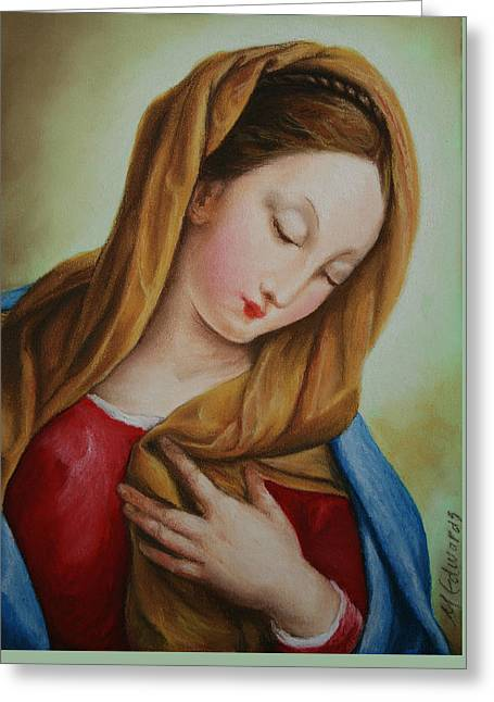 Madonna Greeting Card by Marna Edwards Flavell