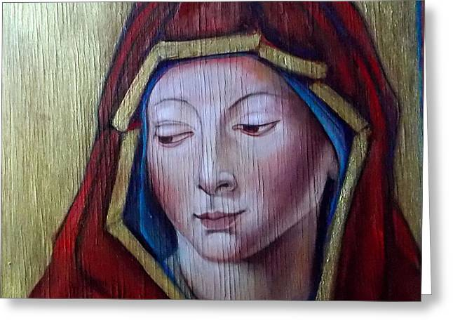 Madonna Of Peace Greeting Card by Irena Mohr