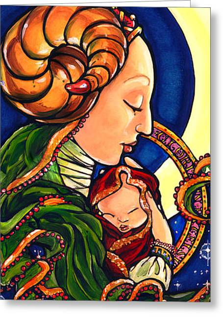 Madonna Of The Moon Greeting Card