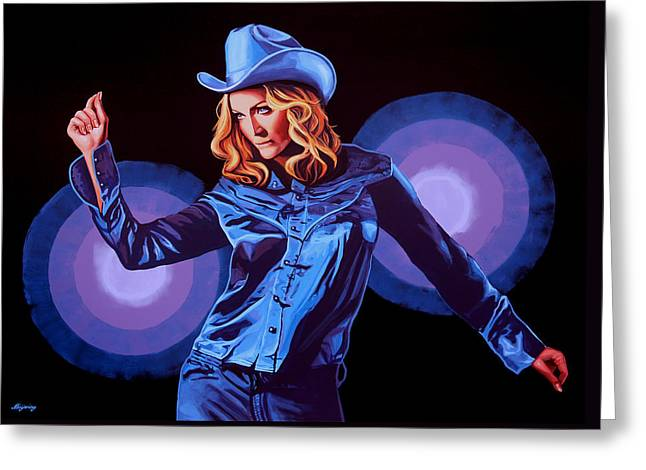 Madonna Painting Greeting Card