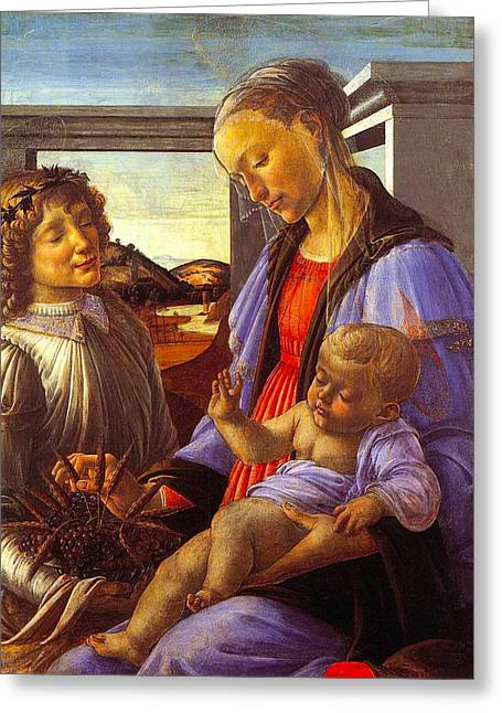 Madonna With Child Greeting Card by Vintage Christmas Card