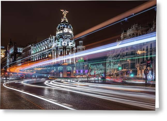Madrid Traffic Greeting Card