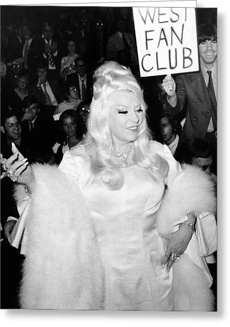 Mae West At Premiere Greeting Card