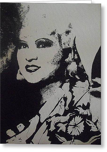 Greeting Card featuring the painting Mae West by Cherise Foster