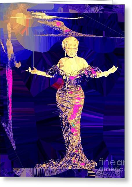 Mae West. Ladies Embrace Your Curves Greeting Card