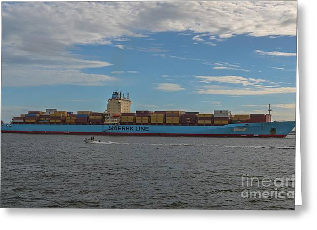 Ocean Going Freighter Greeting Card