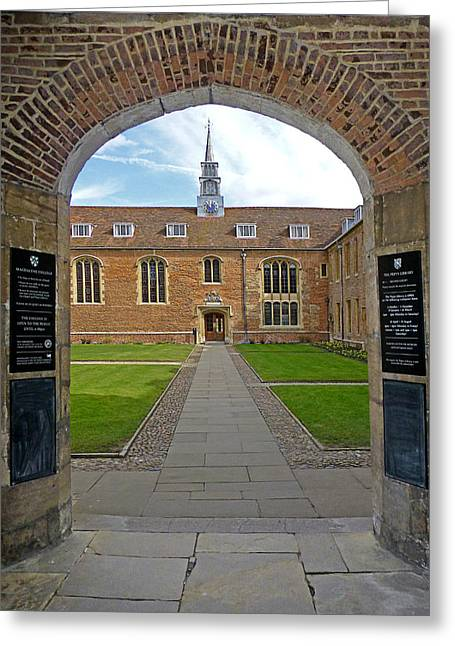 Magdalene College Cambridge Greeting Card