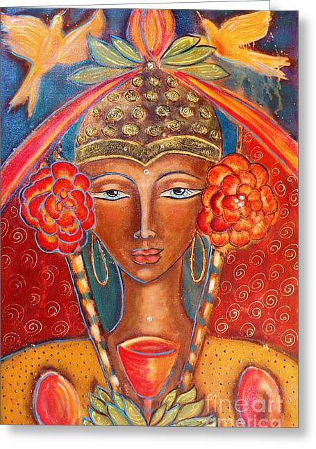 Magdalene Of The Eightfold Path Greeting Card