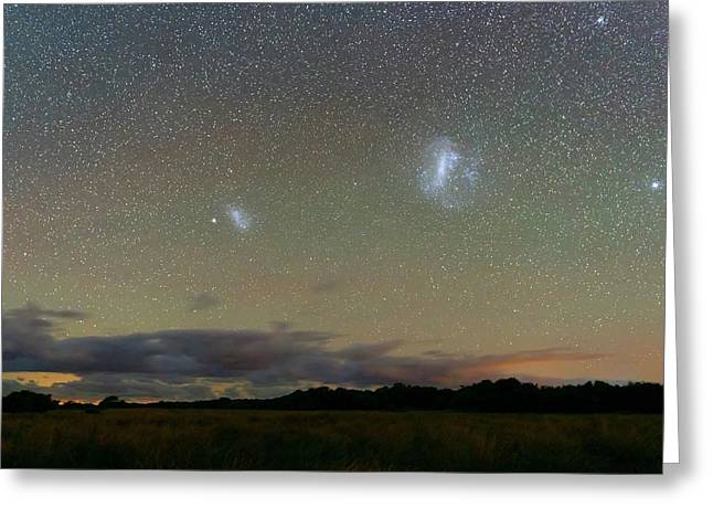 Magellanic Clouds Over The Pampas Greeting Card by Luis Argerich