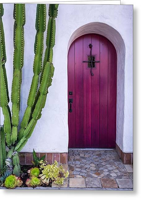 Magenta Door Greeting Card by Thomas Hall