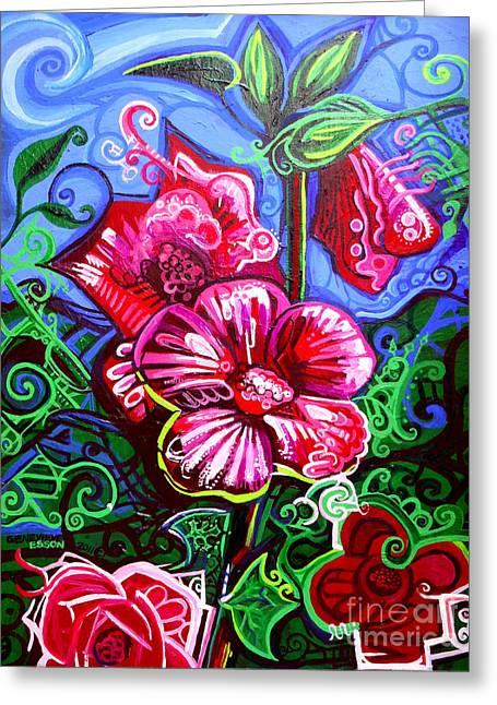Magenta Fleur Symphonic Zoo I Greeting Card