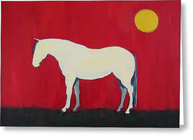 Maggie The Horse In The Moonlight Greeting Card