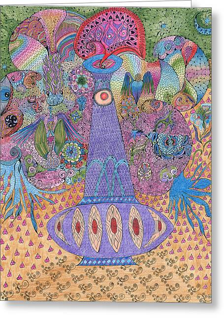 Magic Bottle Greeting Card by I M Rainbow