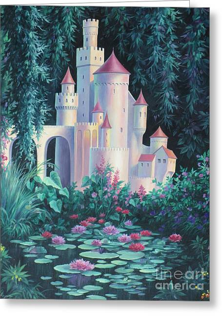 Magic Castle Greeting Card by Vivien Rhyan