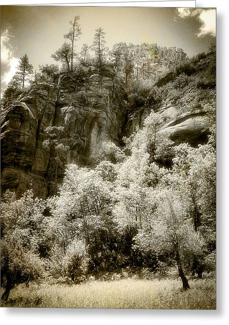Magic Cliffs Outside Sedona Greeting Card by Dave Garner