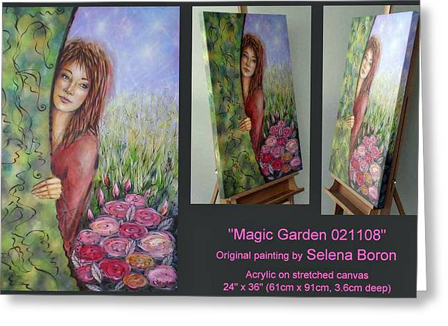 Greeting Card featuring the painting Magic Garden 021108 Comp by Selena Boron