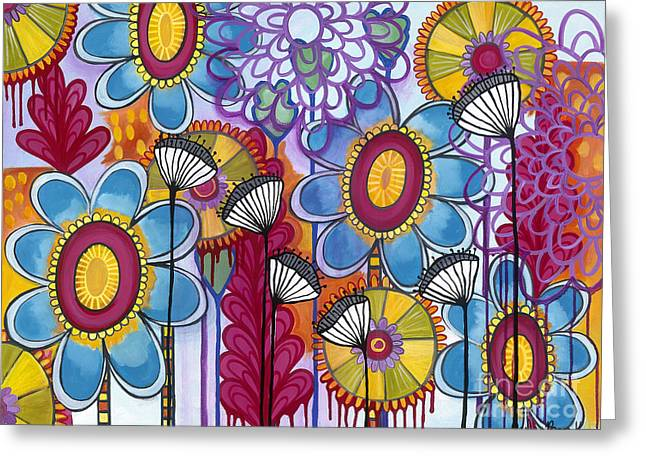 Greeting Card featuring the painting Magic Garden by Carla Bank