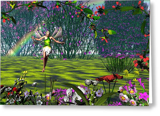 Magic Garden Greeting Card by Michele Wilson