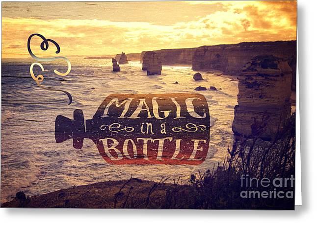 Magic In A Bottle Twelve Apostles Great Ocean Road Australia Greeting Card