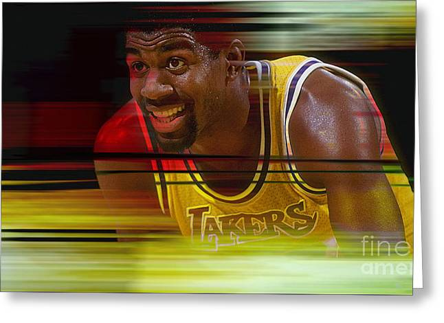 Magic Johnson Greeting Card