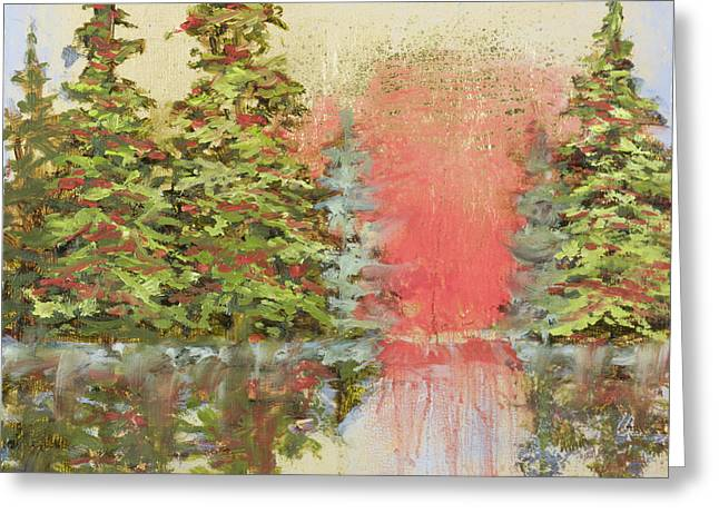 Greeting Card featuring the painting Magic Moment by Vic  Mastis