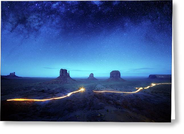 Magic Monument Valley Greeting Card