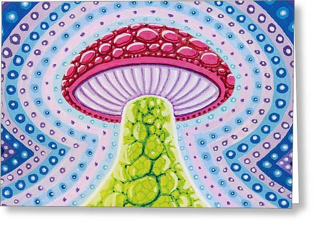 Magic Mushroom Greeting Card by Christopher Sheehan