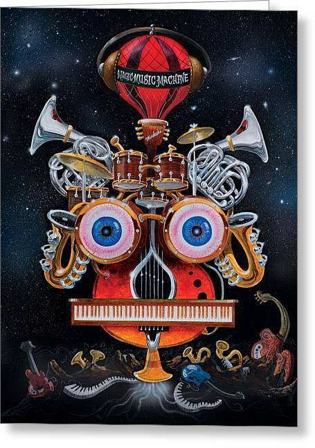 Magic Music Machine Greeting Card