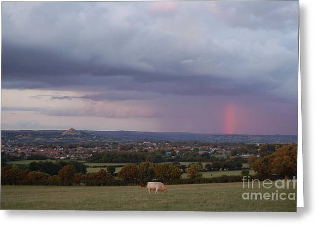 Magic Of Glastonbury Tor Greeting Card