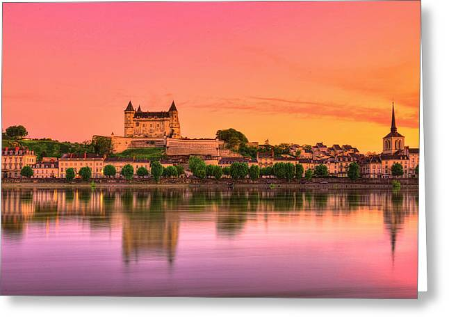 Magic Of Saumur Greeting Card by Midori Chan