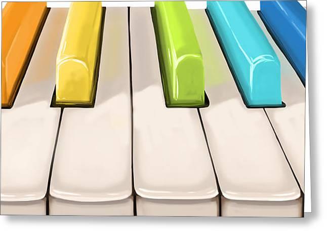 Magic Piano Greeting Card by Veronica Minozzi