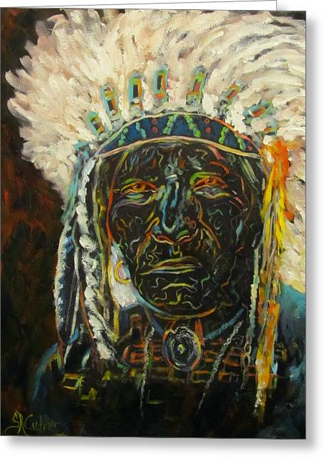 Magic Powers,  Native American Indian Chief Greeting Card