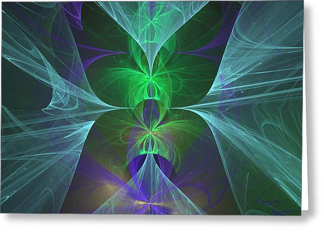 Greeting Card featuring the digital art Magic Symbol by Ursula Freer