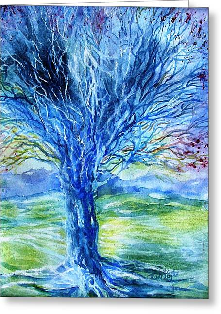 Magic Thorn Tree The Celtic Tree Of Life Greeting Card by Trudi Doyle